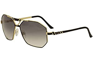 Cazal 9058 Sunglasses 001SG Black/Gold/Grey Gradient 63 mm