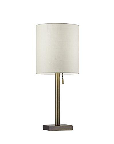 Adesso 1546-21 Liam Table Lamp, Antique Brass