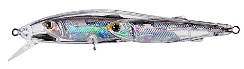 LiveTarget 110 Bait Ball Glass Minnow FW Jerk Bait, Silver/Smoke