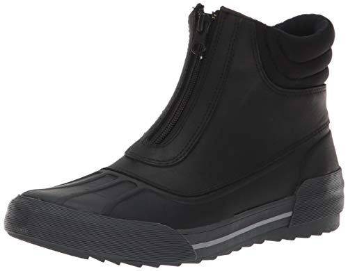 CLARKS Women's Gilby Cherry Snow Boot, Black Leather, 075 M US