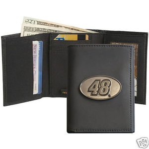 A.D. Sutton Jimmie Johnson Leather Trifold Wallet - Jimmie Johnson One Size by A.D. Sutton