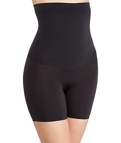 Womens Black Shape Made Thighs Thigh Nylon Medium from with Shorts Day Spanx High Tummy Mid Seamless amp; Spandex Waisted SS5715 for Control amp; Bottom Waist My Zones dtFqwfzq