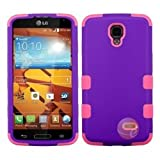 MYBAT Rubberized Grape/Electric Pink TUFF Hybrid Phone Protector Cover compatible with LG LS740 (Volt)