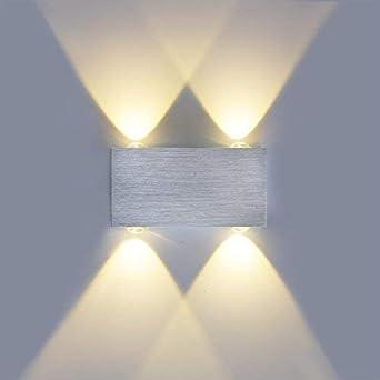 Etime Led Wandleuchte Dimmbar Wandlampe 4w Flurlampe Warmweiss
