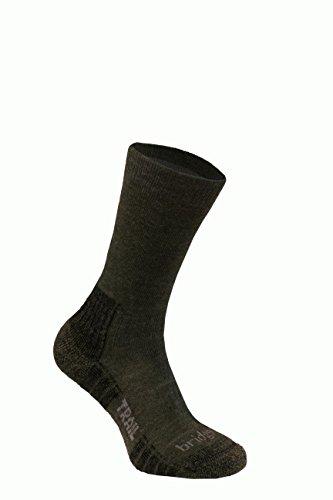 Bridgedale Men's Trail Socks, Dark Green, Large