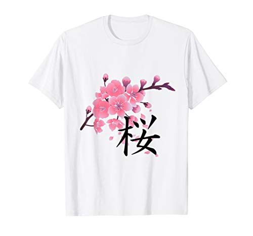 Sakura Cherry Blossoms with Japanese Kanji Shirt