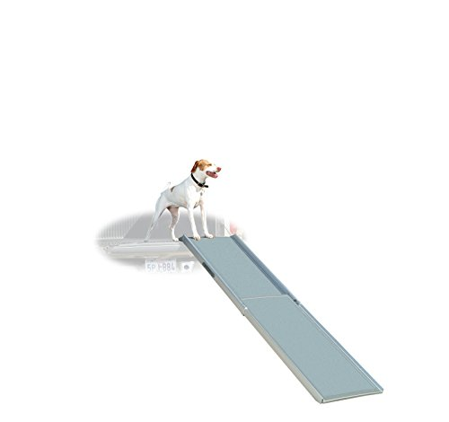 e Extra-Long Telescoping Pet Ramp, Longer Length Dog Ramp for Steep Inclines ()