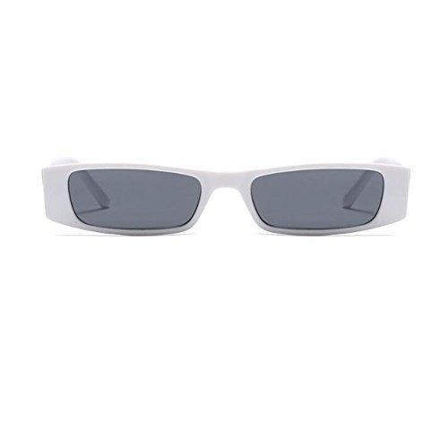 Gafas de Retro Bisagra C5 Escoger para de Deylaying Gris 6 primavera Pequeña Moda UV400 Blanco sol Fiesta Rectángulo Lente Estilo Color Marco Mujer Gafas xnR1tz16