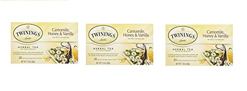 (Twinings , Camomile Honey, Vanilla ,( 3 x20 tea bags), Pack of)