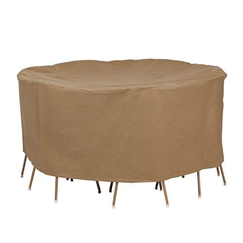 """Duck Covers Essential 72"""" Round Table and Chair Set Cover"""