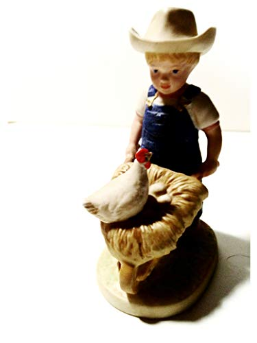 Denim Days Danny, Morning Chores #1501, Home Interiors Collectable Figurine. 5 3/4 Inches.