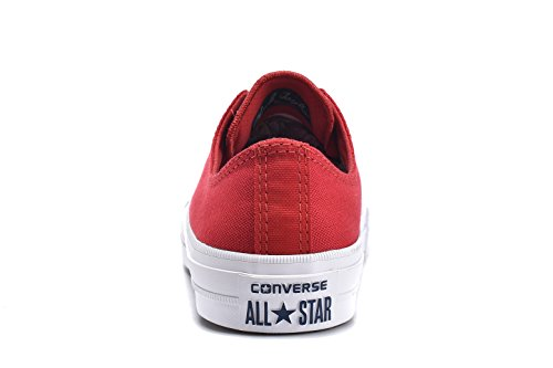 Converse Unisex Low Top Chuck Taylor All Star II Canvas Shoes Salsa Red uvatENPJZ