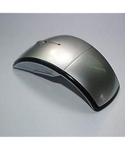 FidgetFidget 2.4GHz Foldable Arc Wireless Optical Mouse Mice + USB Receiver for PC Laptop New Silver