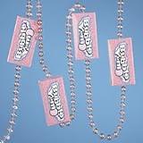 HERSHEY'S Kurt Adler 6-Foot Light Pink Bubble Yum Garland with Iridescent Beads