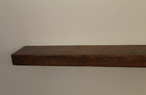 "66""w X 6""d X 2""h, Reclaimed, Floating Wood Shelf, Pine, Antique, Vintage, Shelves, Wooden, Super Easy to Hang"