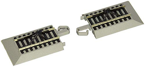 Bachmann Trains - Snap-Fit E-Z TRACK HAYES BUMPERS (2/card) - NICKEL SILVER Rail With Gray Roadbed - HO - Ho Scale Track Ez Bachmann