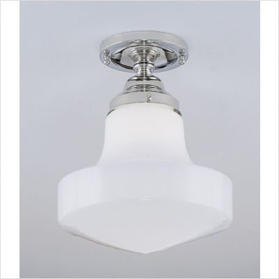 Norwell Lighting 5361F-OB-ST Schoolhouse - One Light Flush Mount, Glass Options: Stepped, Choose Finish: OB: Oil Rubbed Bronze