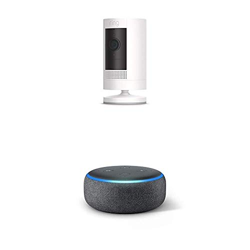 All-new Ring Stick Up Cam Solar with Echo Dot (Charcoal)