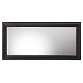 champlain 66 in x 32 in black coffee framed leaner mirror with