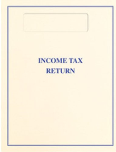 Top-Staple Cover - Official Window - Tax Return Cover (Blue)