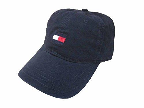 Tommy Hilfiger Mens Flag Logo Cotton Twill Baseball Cap (Navy)