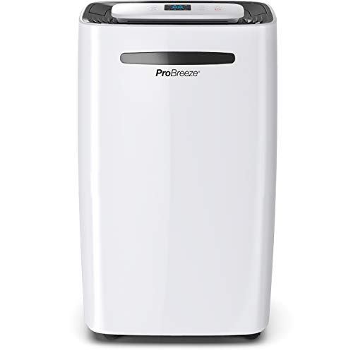 Pro Breeze 20L/Day Dehumidifier with Digital Humidity Display, Sleep Mode, Continuous...