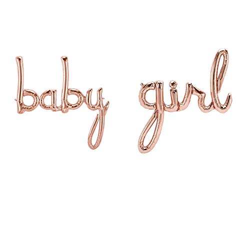 Besttt-Seller Rose Gold Baby Girl Balloon for Baby Shower Decorations, Baby Balloons, Its A Girl Gender Reveal Balloon,Bachelorette