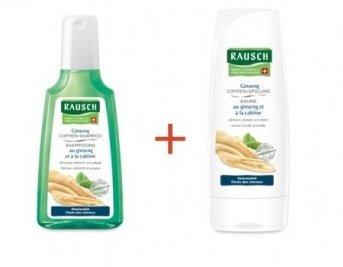 RAUSCH Shampoo al ginseng y Cafeína Caída 200 ml + Bálsamo al ginseng y Cafeína Anticaída