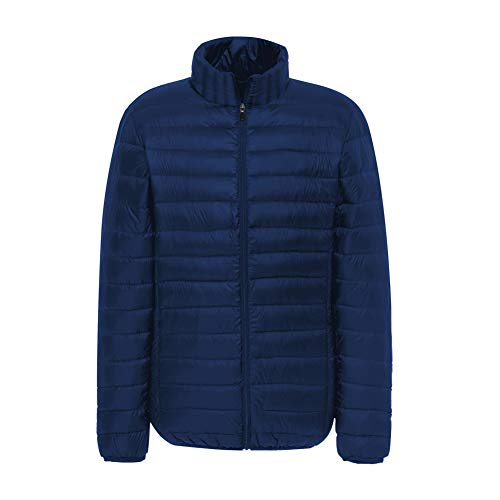 Jacket Packable Padded Men's Navy Lightweight Outerwear Quilted SUNDAYROSE Puffer qF7tcp4wwT