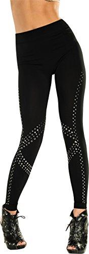 (Rubie's Adult Rockstar Studded Leggings, Black, One)