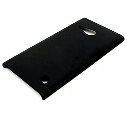 new arrivals 600f6 71a6d WOW Imagine Rubberised Matte Hard Back Case Cover for Nokia Lumia 730  (Pitch Black)