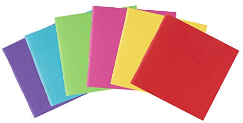 Blank Book - 48-Pack Colorful Notebooks, Unlined Plain Travel Journals for Students, Kids Diaries, Creative Writing Projects, 6 Assorted Colors, 4.1 x 4.2 Inches, 24 Sheets (Book Notepad)