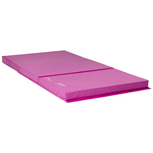 Z ATHLETIC Landing Crash Mat Open Cell for Gymnastics, Tumbling, Martial Arts (Pink, 4ft x 7ft x 4in)