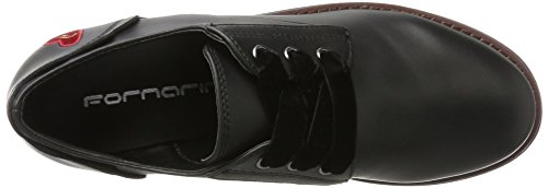 Brouge 000 Black Stringate Nero Donna Carnaby Scarpe Fornarina Fwtqx16vw