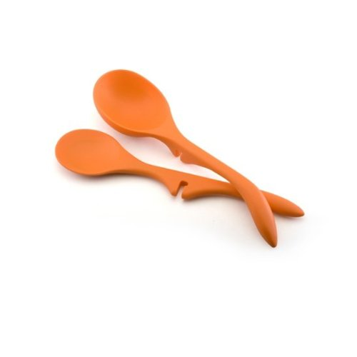 Rachael Ray Tools 2-Piece Lazy Spoon & Lazy Ladle Set, Orange