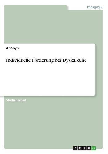 Individuelle Forderung Bei Dyskalkulie (German Edition) pdf epub