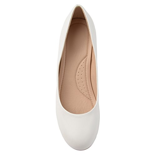 Journee Collection Mujeres Comfort-sue Classic Tacones Blanco