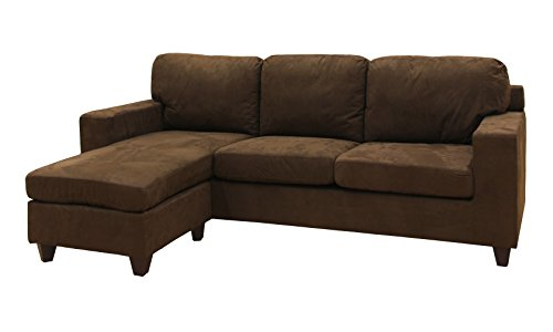 Acme Furniture 16907 Vogue Sectional Sofa, Chocolate Microfiber (Sofa Furniture Acme Sectional)
