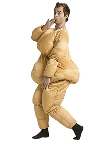 Fun World Men's Fat Suit Adlt Cstm, multi Standard ()
