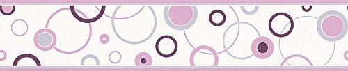A.S. Création Bordüre Happy Hour, grau, violett, weiß, 259325