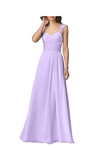 Festa Donne Di Prom Di D'onore Delle Di Veste Damigella Nozze Una Bellezza Lunga Sposa Lilla Linea Chiffon O4gnwOqp