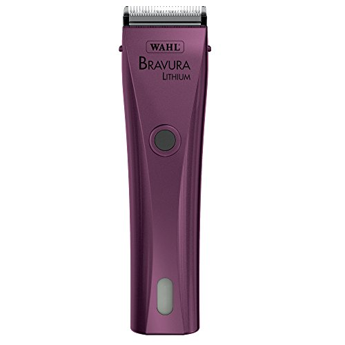Wahl Professional Animal Bravura Pet, Dog, Cat, and Horse Corded / Cordless Clipper Kit, Purple (#41870-0423)