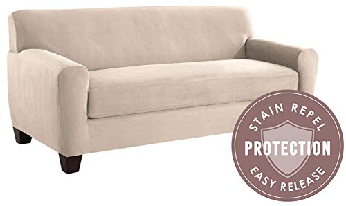 Tailor Fit Microsuede Sofa Furniture Slipcover with Detachab