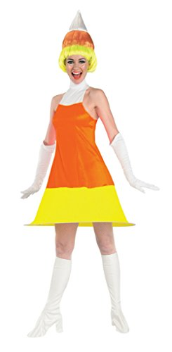 Rubies Womens Comical Candy Corn Theme Party Fancy Halloween Costume, One Size (Up To 12) -