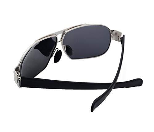 Silver Pour lunettes conduisant protection unisexe UV400 voyager de des Lunettes en lunettes soleil métal l'extérieur soleil hommes pour pour de Cadre polarisées de PBrw4Pq