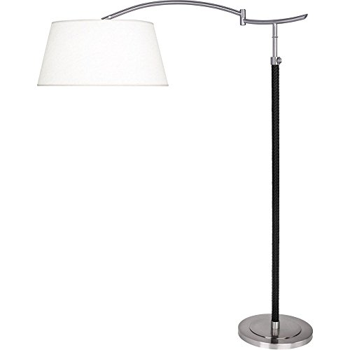 Robert Abbey D580 One Light Floor - Table Black Lamp Robert Abbey