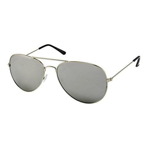 Unisex Vintage Style Silver Aviator Sunglasses by - Paul Jr Sunglasses