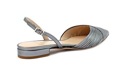 CHANTAL Sandalo 606 Laminato Acciaio 160