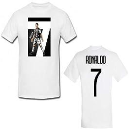 MAESTRI DEL CALCIO T-Shirt Maglia CELEBRATIVA Ronaldo CR7 Bambino F.C. Juventus Juve Personalizzabile