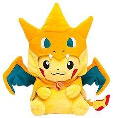 Original Pikachu Plush Doll (Mega Charizard Y Ver.): Toys & Games